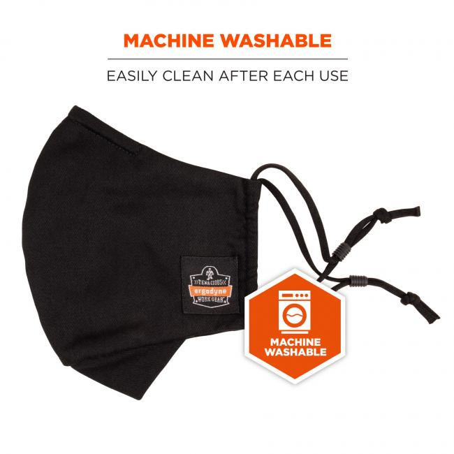 Machine washable: easily clean after each use. Icon says machine washable.
