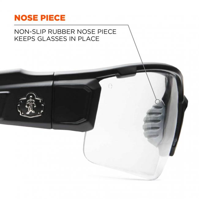Noise piece: non-slip rubber nose piece keeps glasses in place
