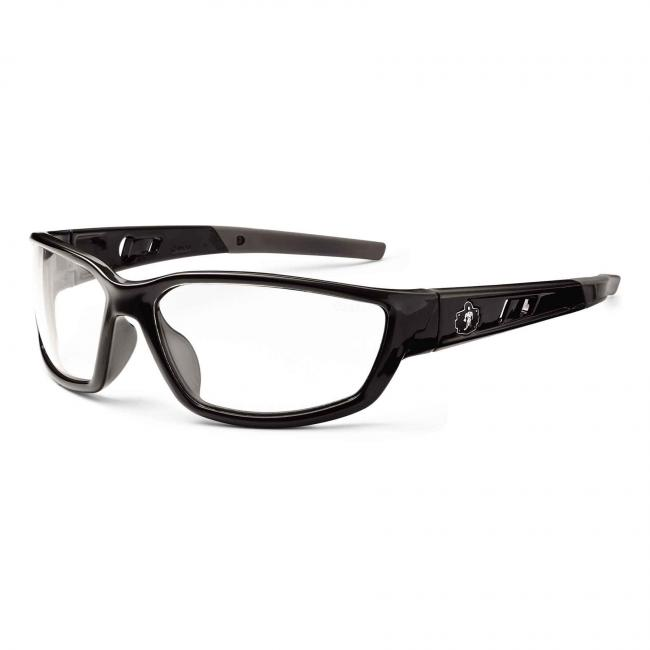 Kvasir Clear Lens black Safety Glasses image 1