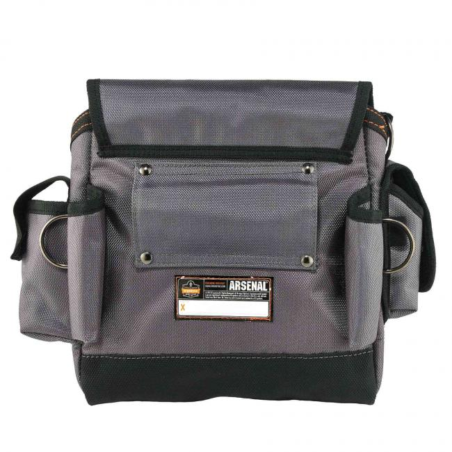 5518  Gray Topped Tool Pouch - Loop Attachment Tool Pouch image 4