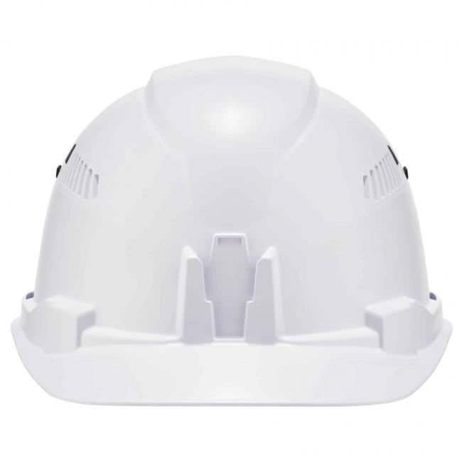 front of hard hat