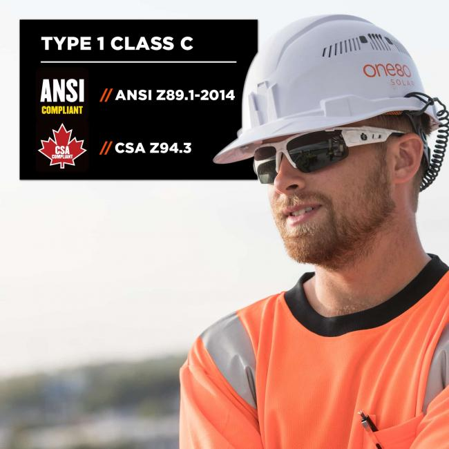 type 1 class c: ansi z99.1-2014 and csa z94.3 compliant