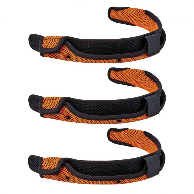 8984 Orange Hard Hat Replacement Sweatband 3-Pack image 1