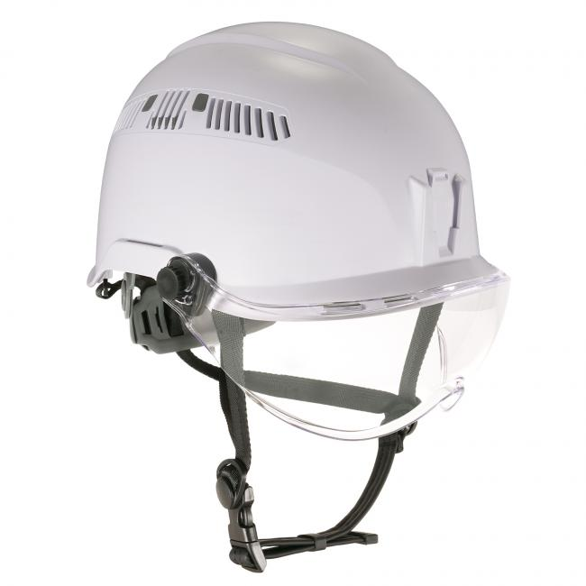 Front of safety helmet and visor