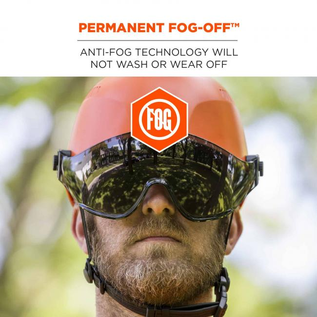 Permanent Fog-Off: Anti-Fog technology will not wash or wear off.
