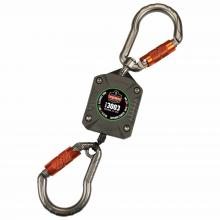 Squids 3003 Retractable Tool Lanyard - Dual Locking Carabiners, 2lbs / 0.9kg