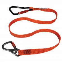 Squids 3149 Tool Lanyard XL - Locking Carabiner + Swivel Carabiner, 80lbs / 36kg
