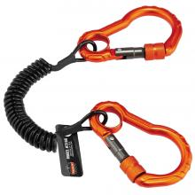 Squids 3166 Coil Tool Lanyard with Dual Carabiners - 2lbs / 0.9kg