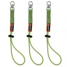 Squids 3713 Elastic Tool Tether Attachment - Loop Tool Tails™ Swivel - 10lbs (3-Pack)