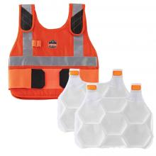 Chill-Its 6215 Premium FR Phase Change Cooling Vest with Packs