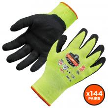 ProFlex 7021-CASE Hi-Vis Nitrile-Coated Cut-Resistant Gloves - ANSI A2 Level, WSX™ Wet Grip
