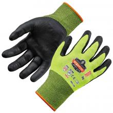 ProFlex 7022 Hi-Vis Nitrile-Coated Cut-Resistant Gloves - ANSI A2 Level, DSX™ Dry Grip