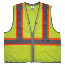 GloWear 8231TV Hi-Vis Tool Tethering Safety Vest - Type R, Class 2, Dual Certified