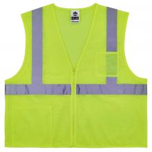 GloWear 8256Z Class 2 Self-Extinguishing Hi-Vis Safety Vest