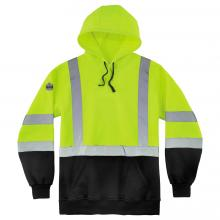 GloWear 8373 Class 3 Pullover Hi-Vis Hooded Sweatshirt - Black Front