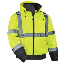 GloWear 8379 Thermal High Visibility Jacket - Type R, Class 3, Fleece-Lined Bomber