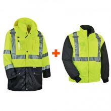 GloWear 8388 4-in-1 Thermal High Visibility Jacket Kit - Type R, Class 3/2