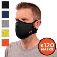 Skullerz® 8802F(x)-CASE Contoured Face Cover Mask with Filter - Reusable, Cotton