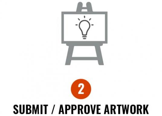2. Submit/approve artwork